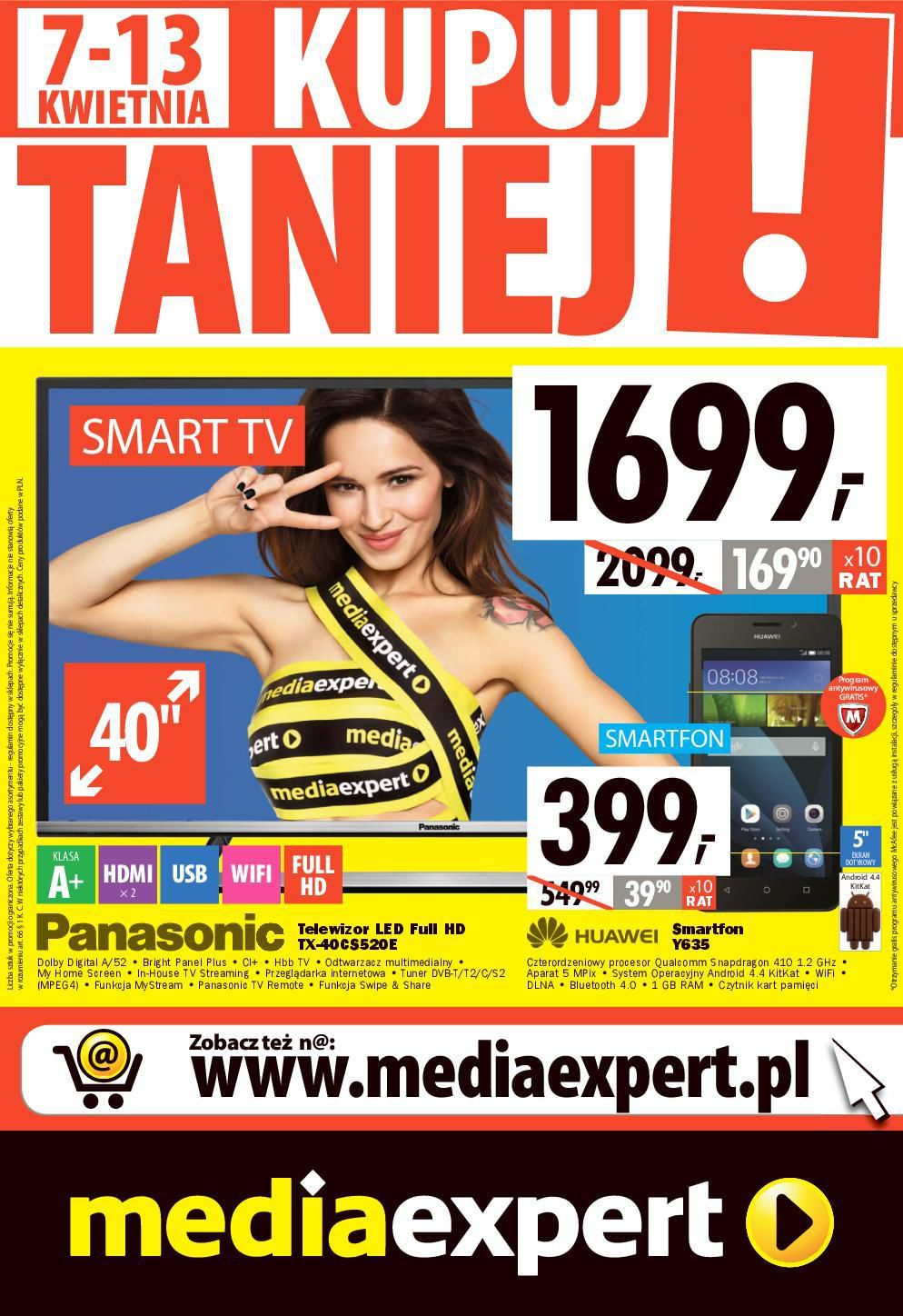 Gazetka promocyjna Media Expert do 13/04/2016 str.0