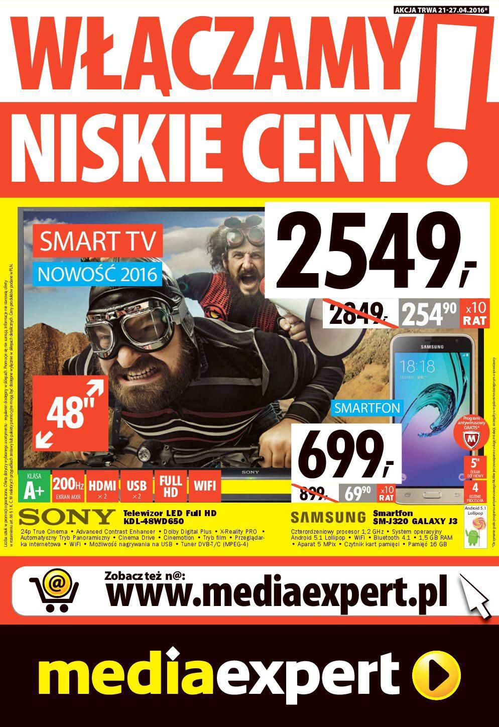Gazetka promocyjna Media Expert do 27/04/2016 str.1
