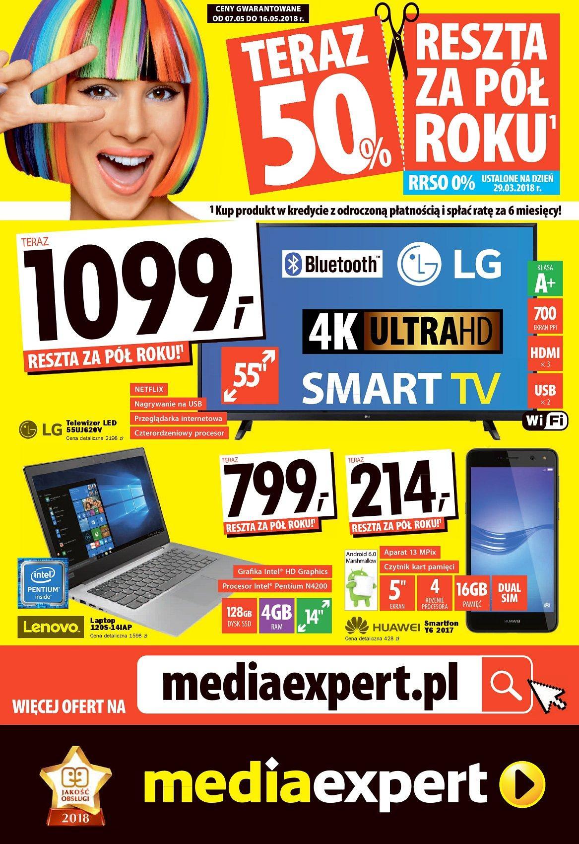 Gazetka promocyjna Media Expert do 16/05/2018 str.0
