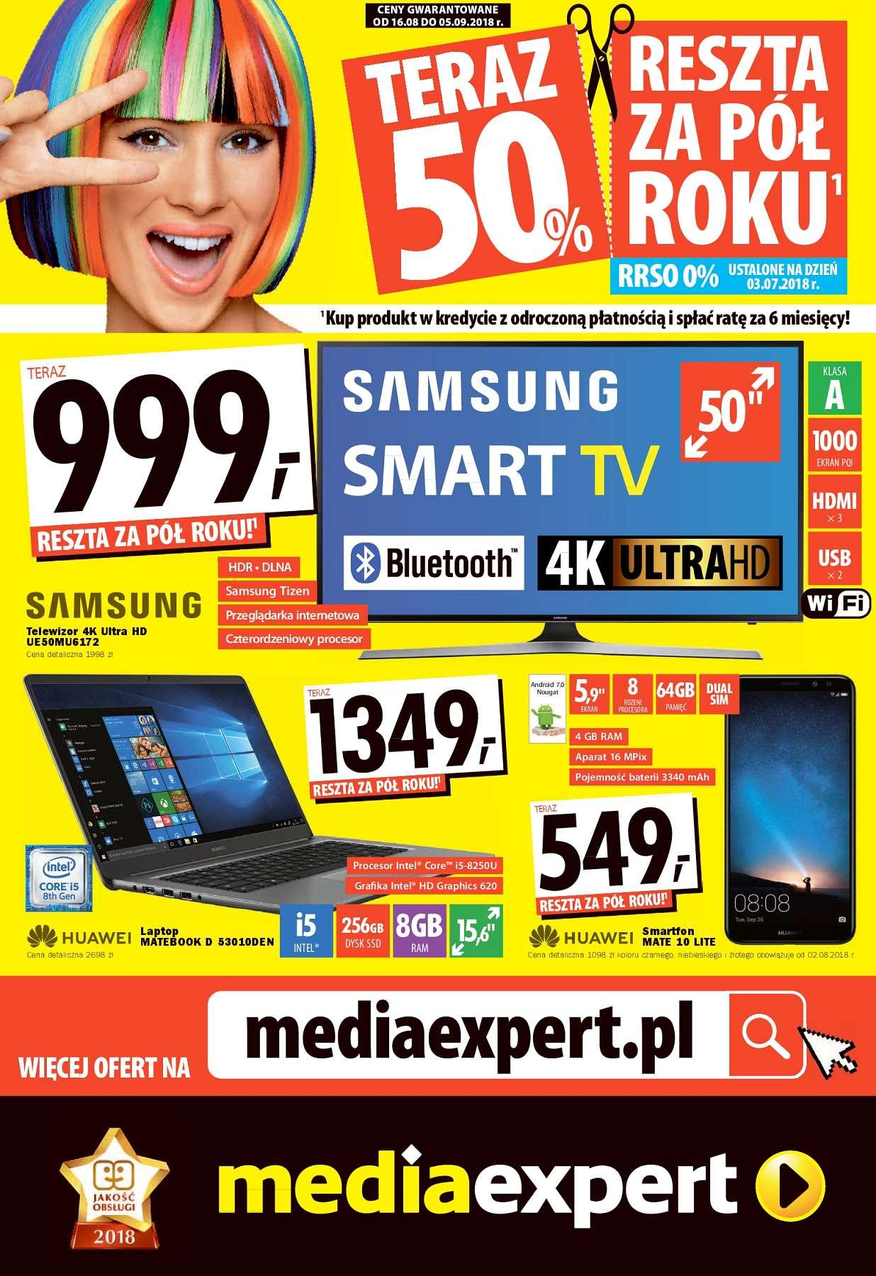 Gazetka promocyjna Media Expert do 05/09/2018 str.0