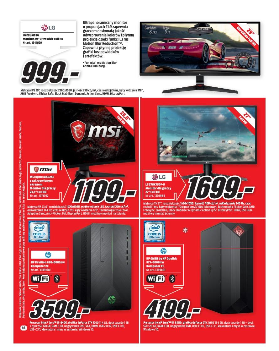 Gazetka promocyjna Media Markt do 31/12/2018 str.16