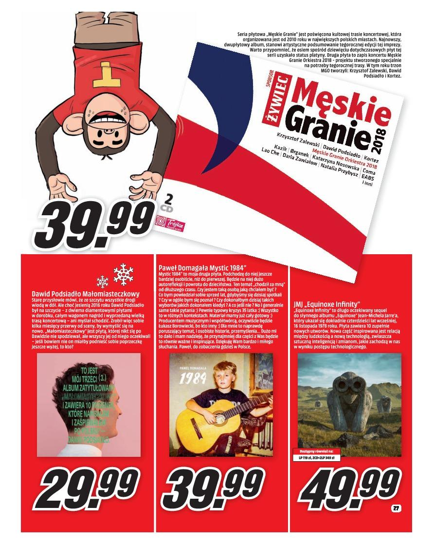 Gazetka promocyjna Media Markt do 31/12/2018 str.27