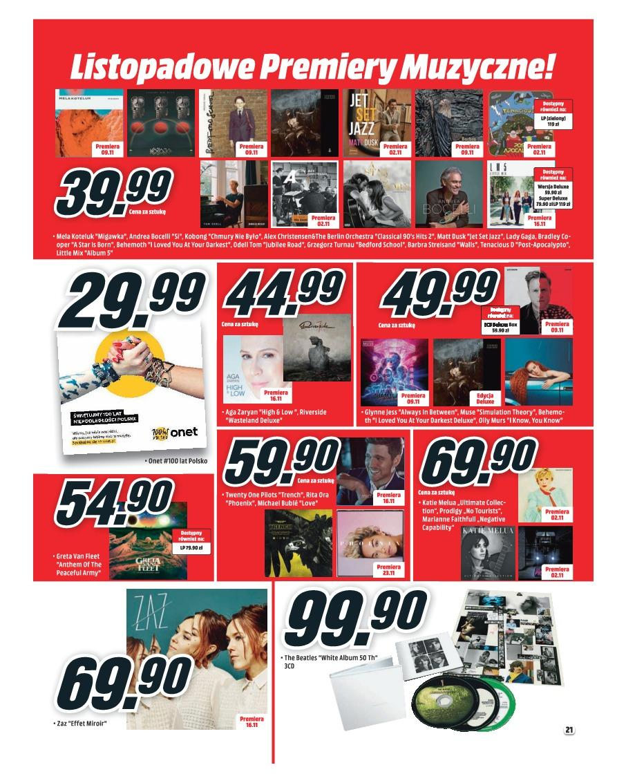 Gazetka promocyjna Media Markt do 30/11/2018 str.21
