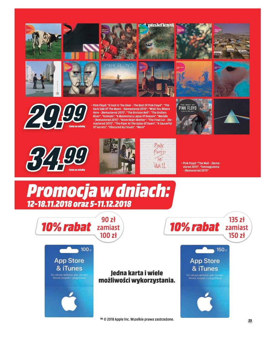 Gazetka promocyjna Media Markt do 30/11/2018 str.23