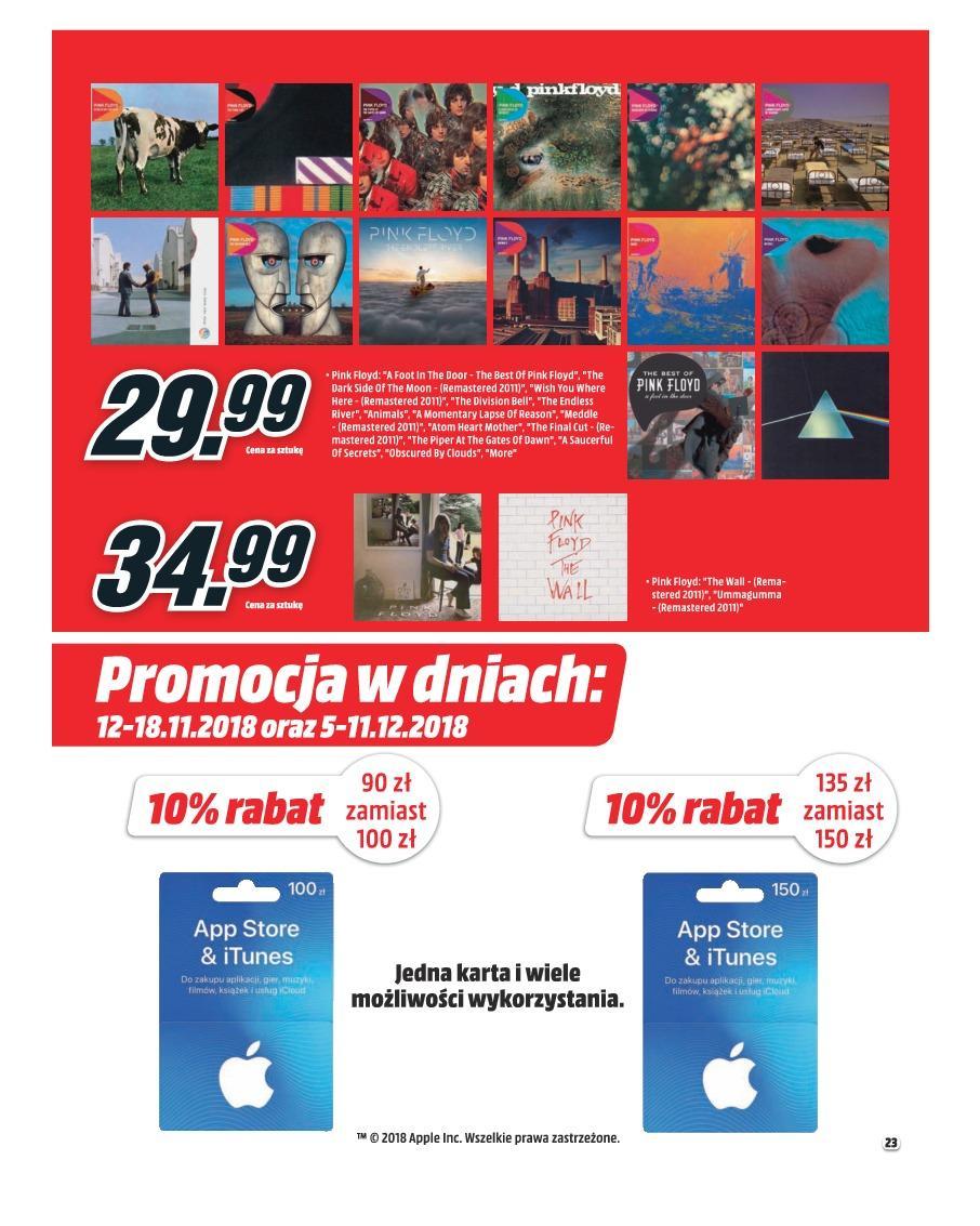 Gazetka promocyjna Media Markt do 30/11/2018 str.22