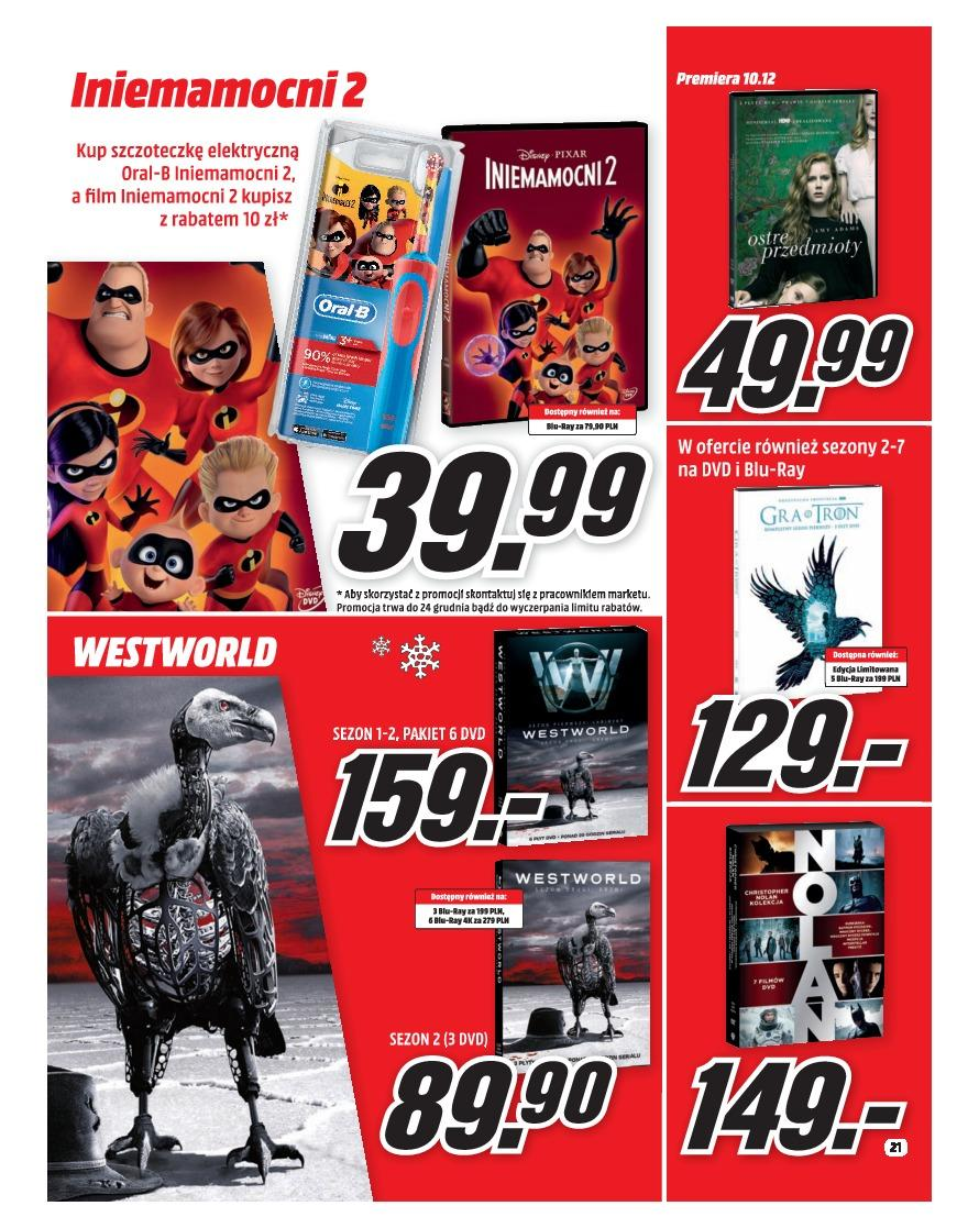 Gazetka promocyjna Media Markt do 31/12/2018 str.21