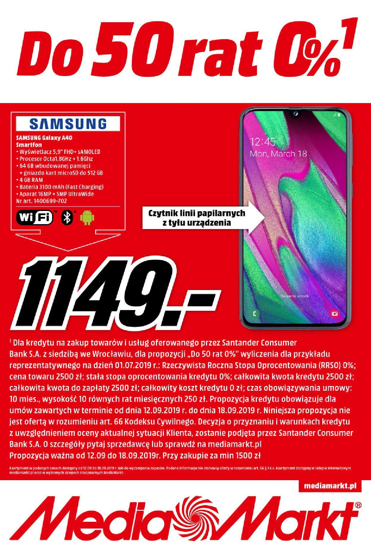 Gazetka promocyjna Media Markt do 18/09/2019 str.1