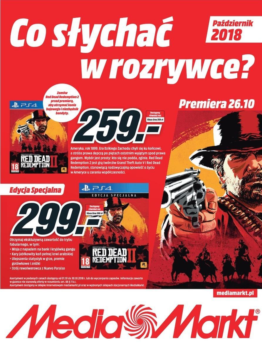 Gazetka promocyjna Media Markt do 31/10/2018 str.1