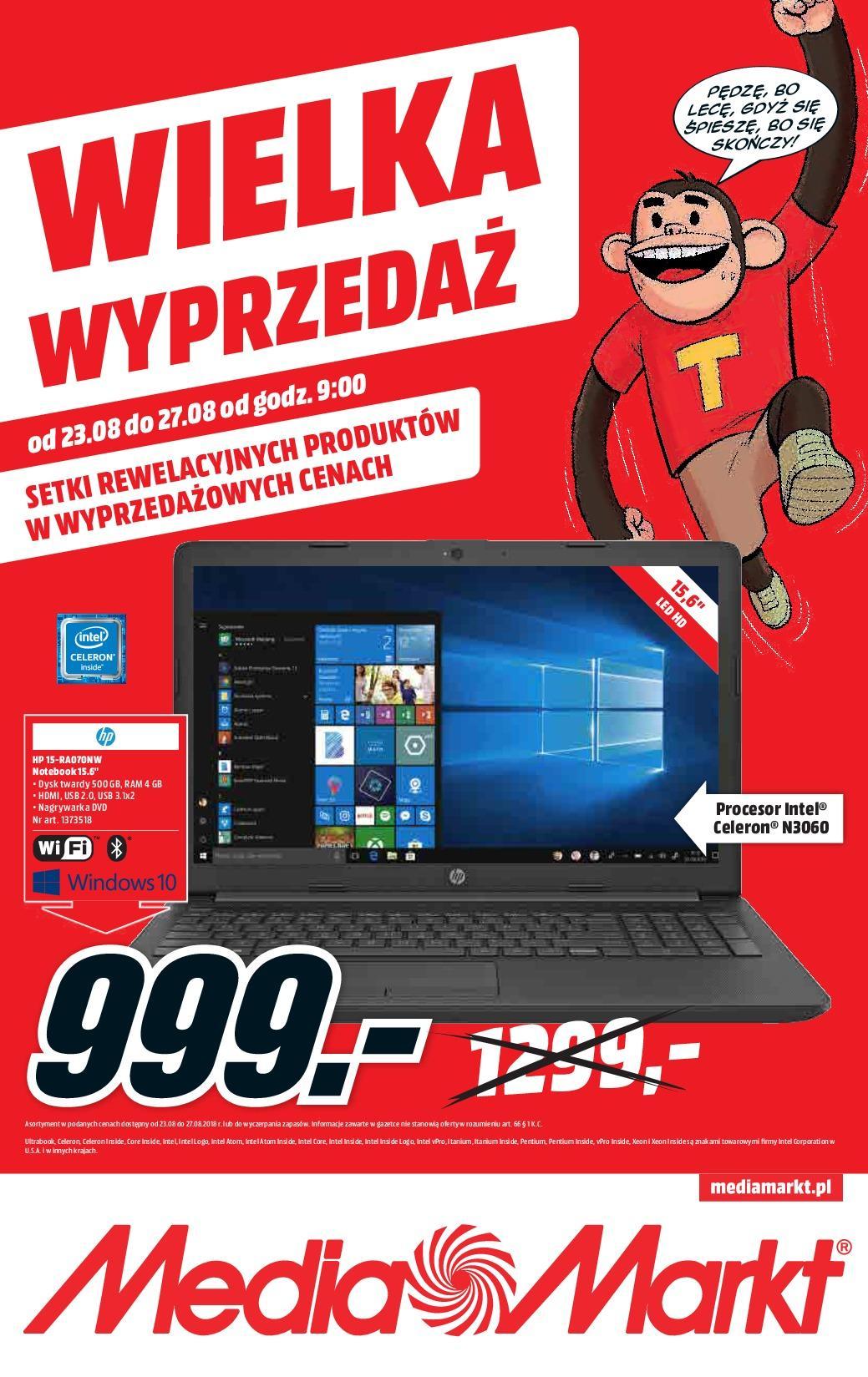 Gazetka promocyjna Media Markt do 27/08/2018 str.0