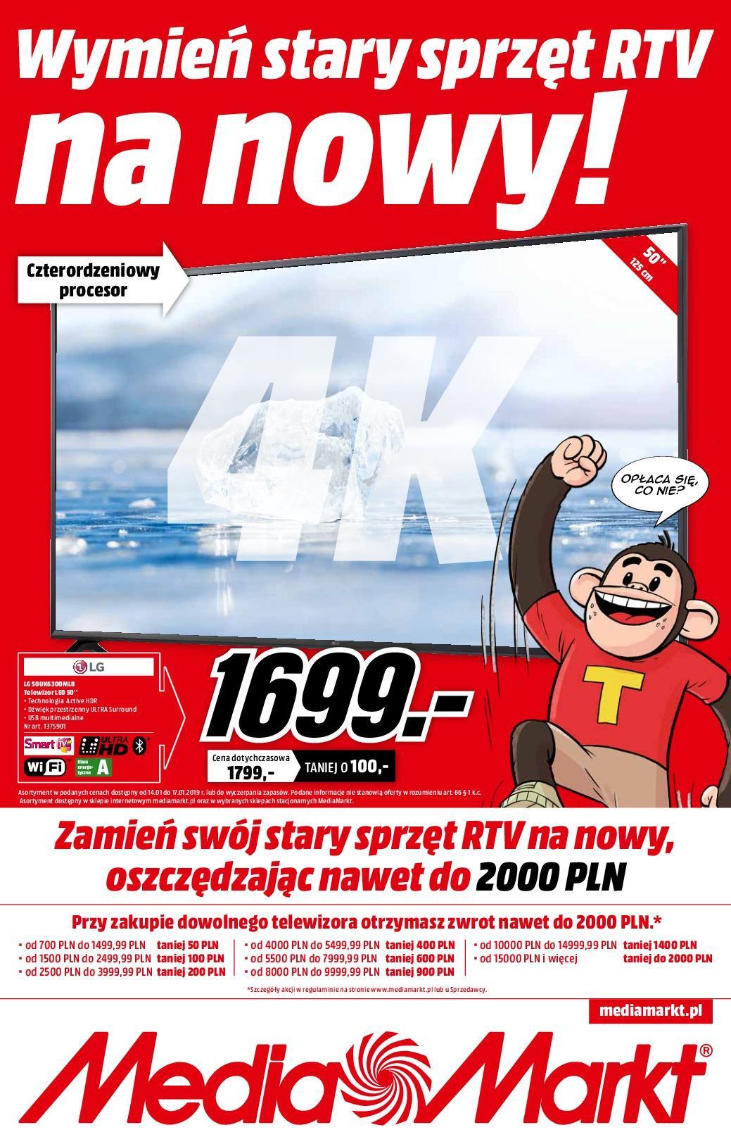 Gazetka promocyjna Media Markt do 17/01/2019 str.0