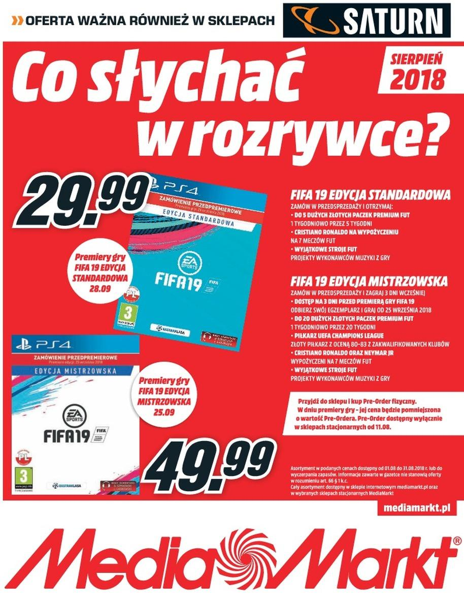Gazetka promocyjna Media Markt do 08/08/2018 str.1