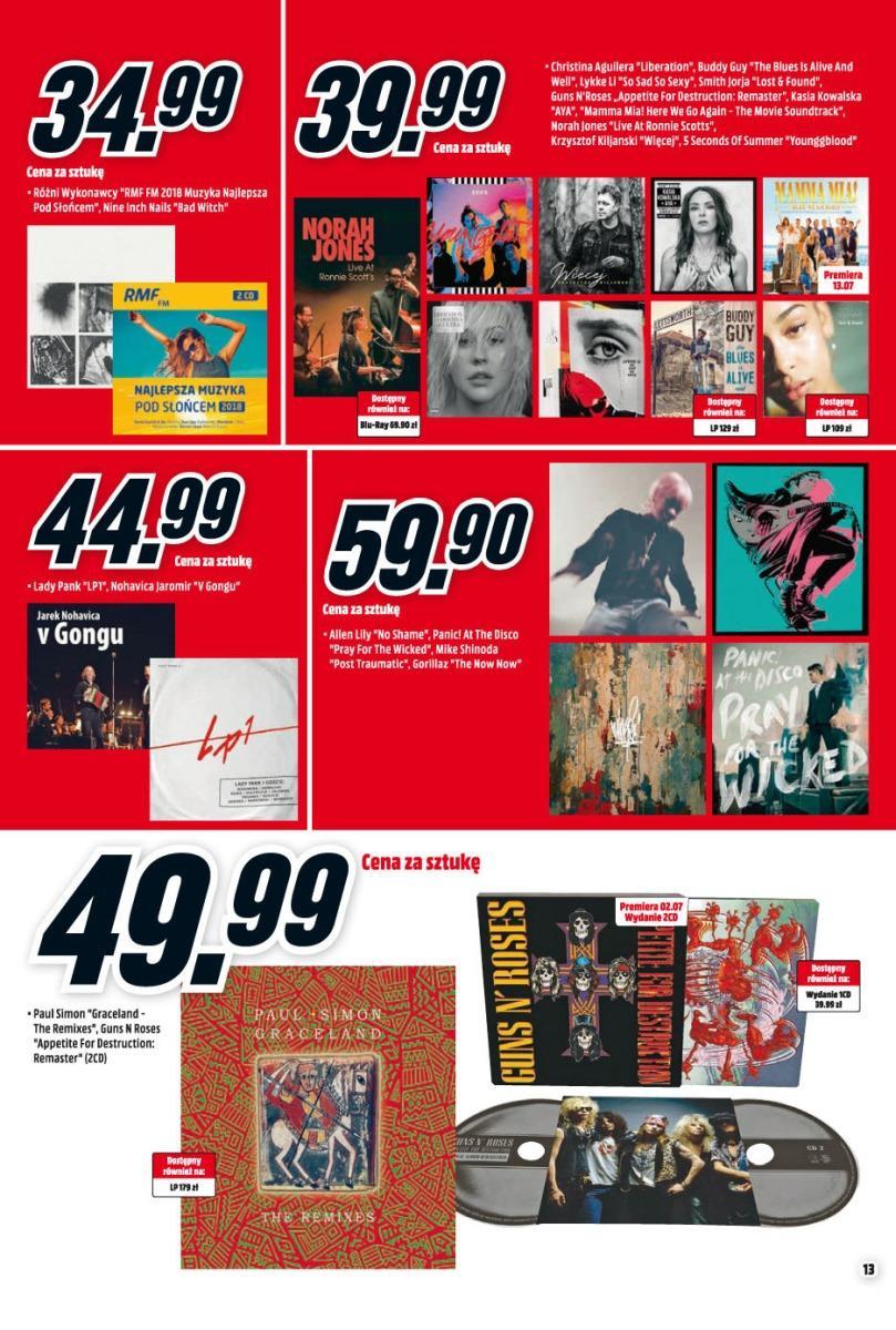 Gazetka promocyjna Media Markt do 31/07/2018 str.13