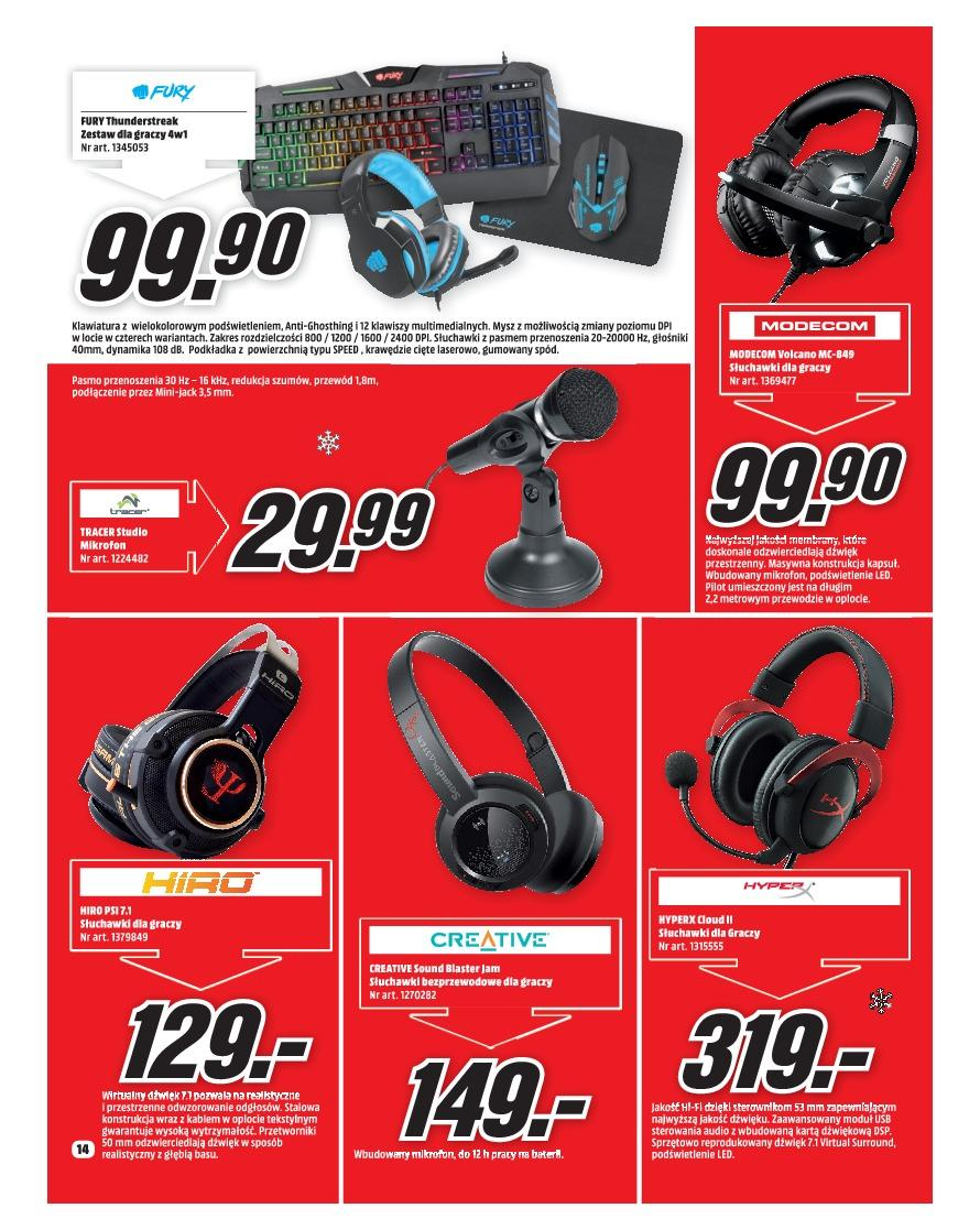 Gazetka promocyjna Media Markt do 31/12/2018 str.14