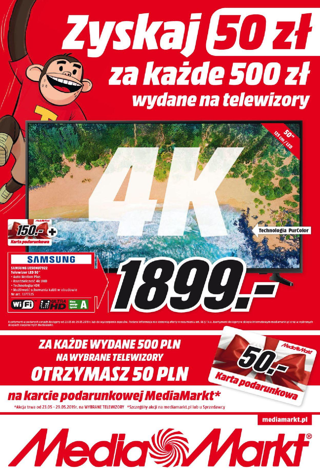 Gazetka promocyjna Media Markt do 29/05/2019 str.1
