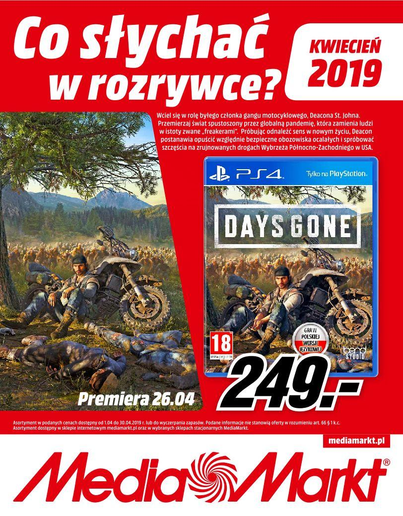 Gazetka promocyjna Media Markt do 30/04/2019 str.1