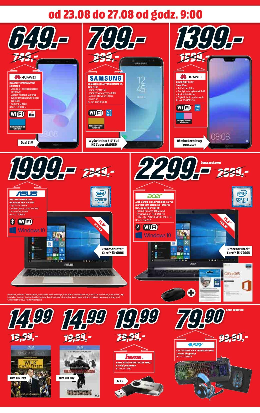Gazetka promocyjna Media Markt do 27/08/2018 str.1