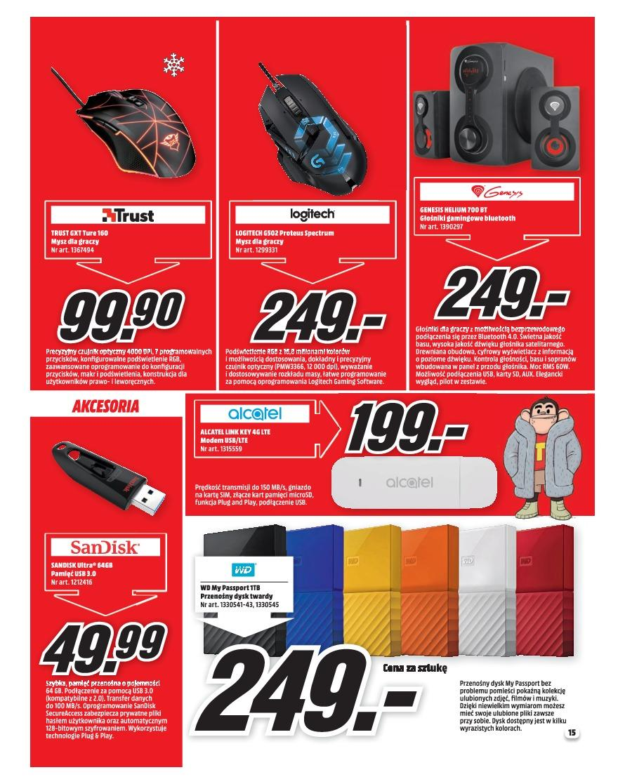 Gazetka promocyjna Media Markt do 31/12/2018 str.15