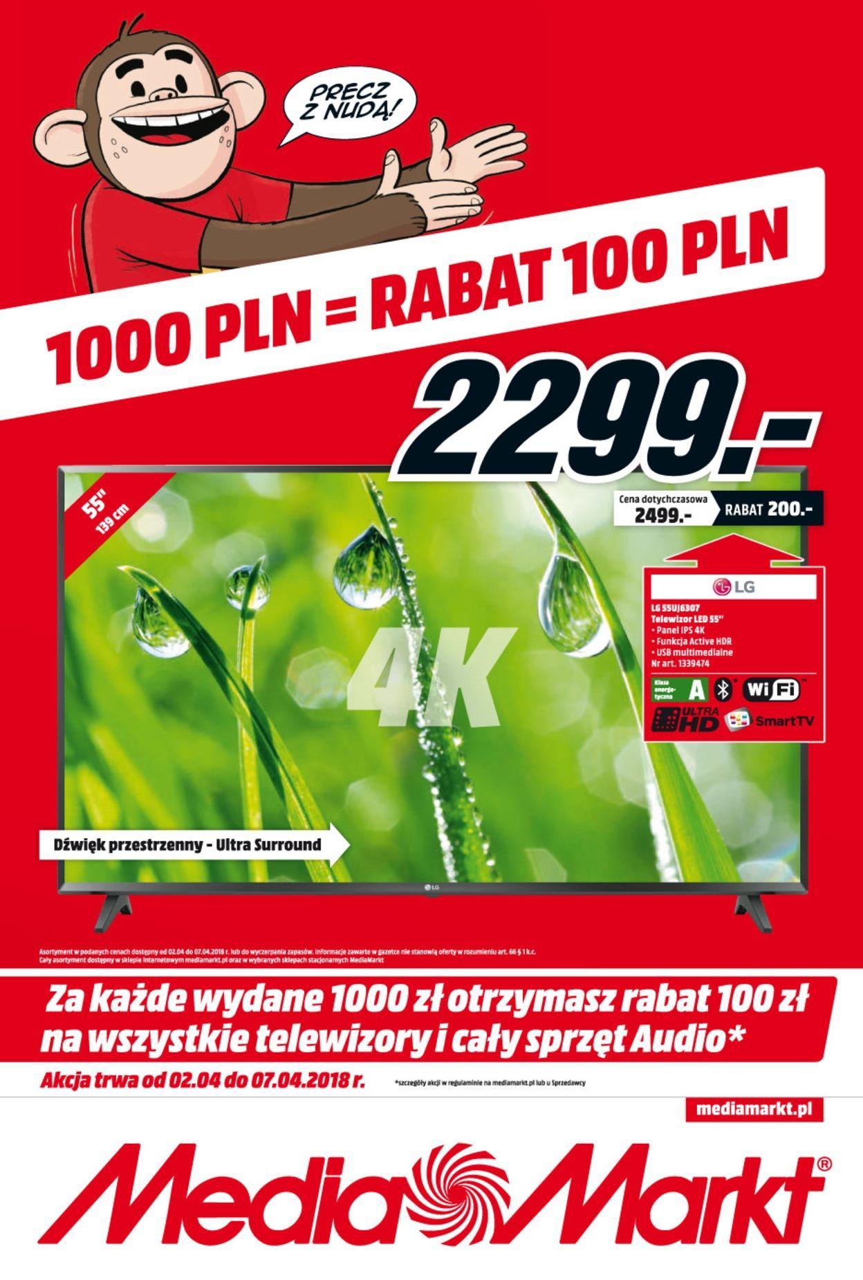 Gazetka promocyjna Media Markt do 07/04/2018 str.0