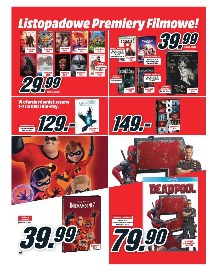 Gazetka promocyjna Media Markt do 30/11/2018 str.16