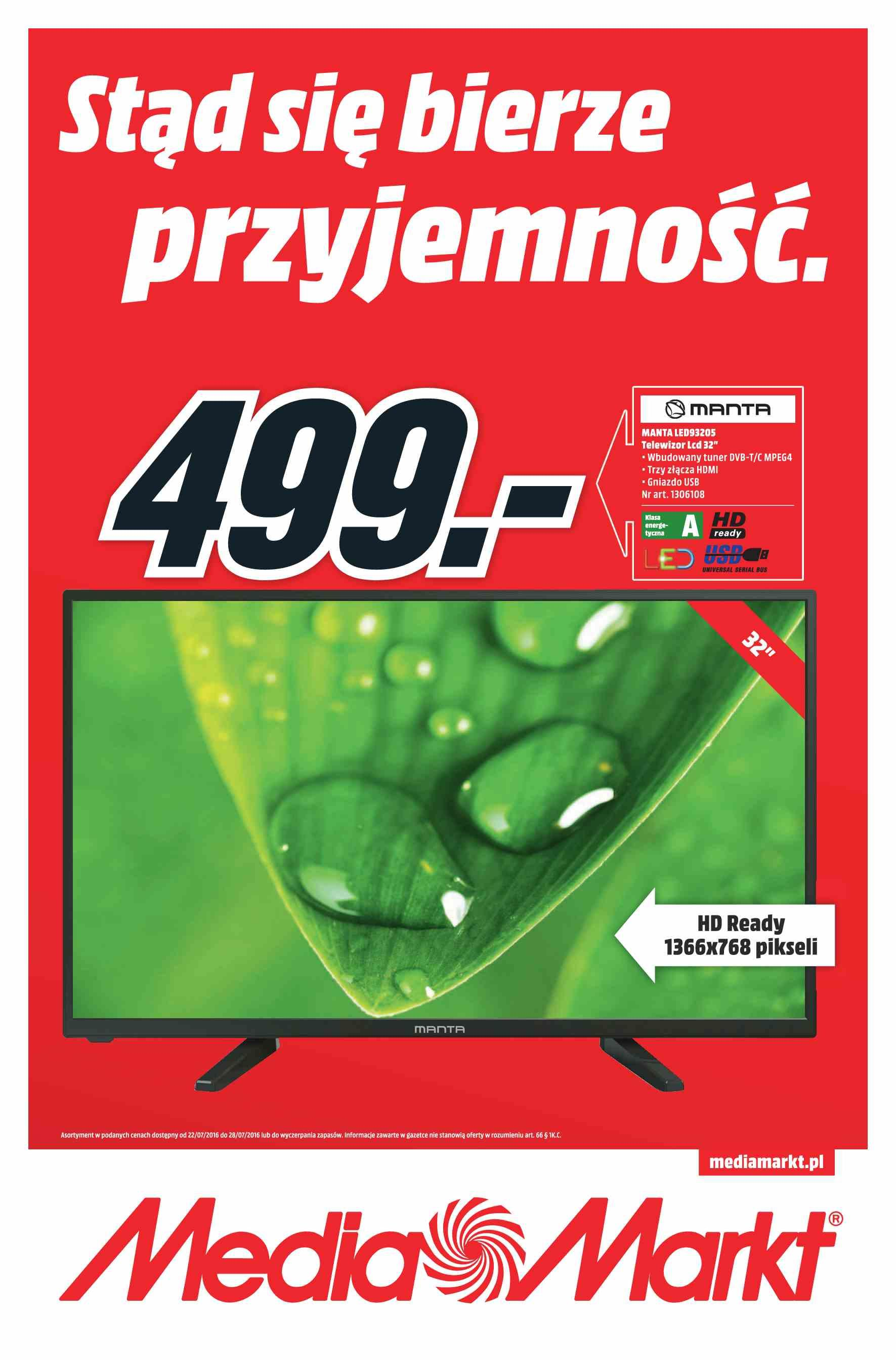 Gazetka promocyjna Media Markt do 28/07/2016 str.0