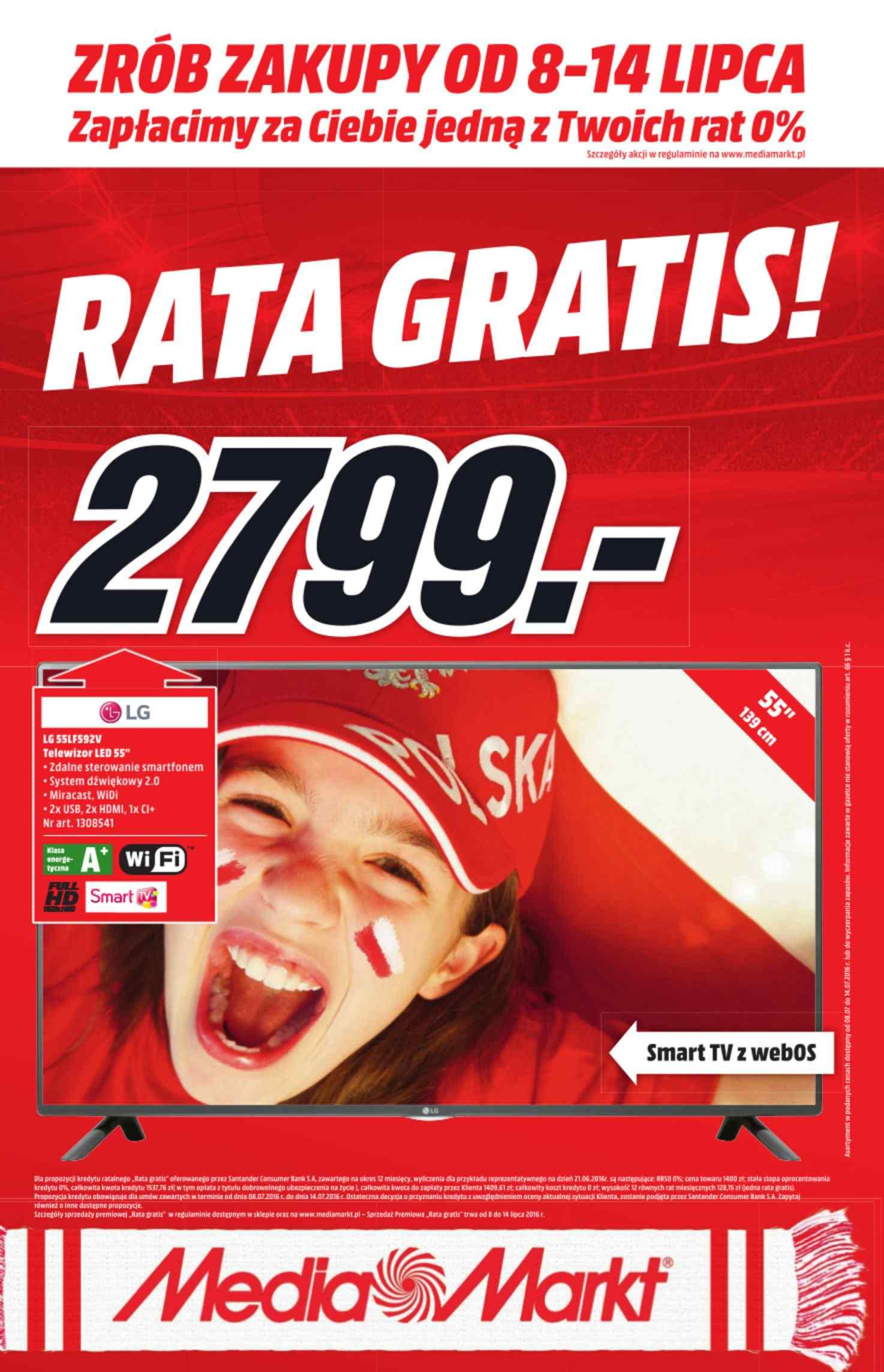 Gazetka promocyjna Media Markt do 14/07/2016 str.0