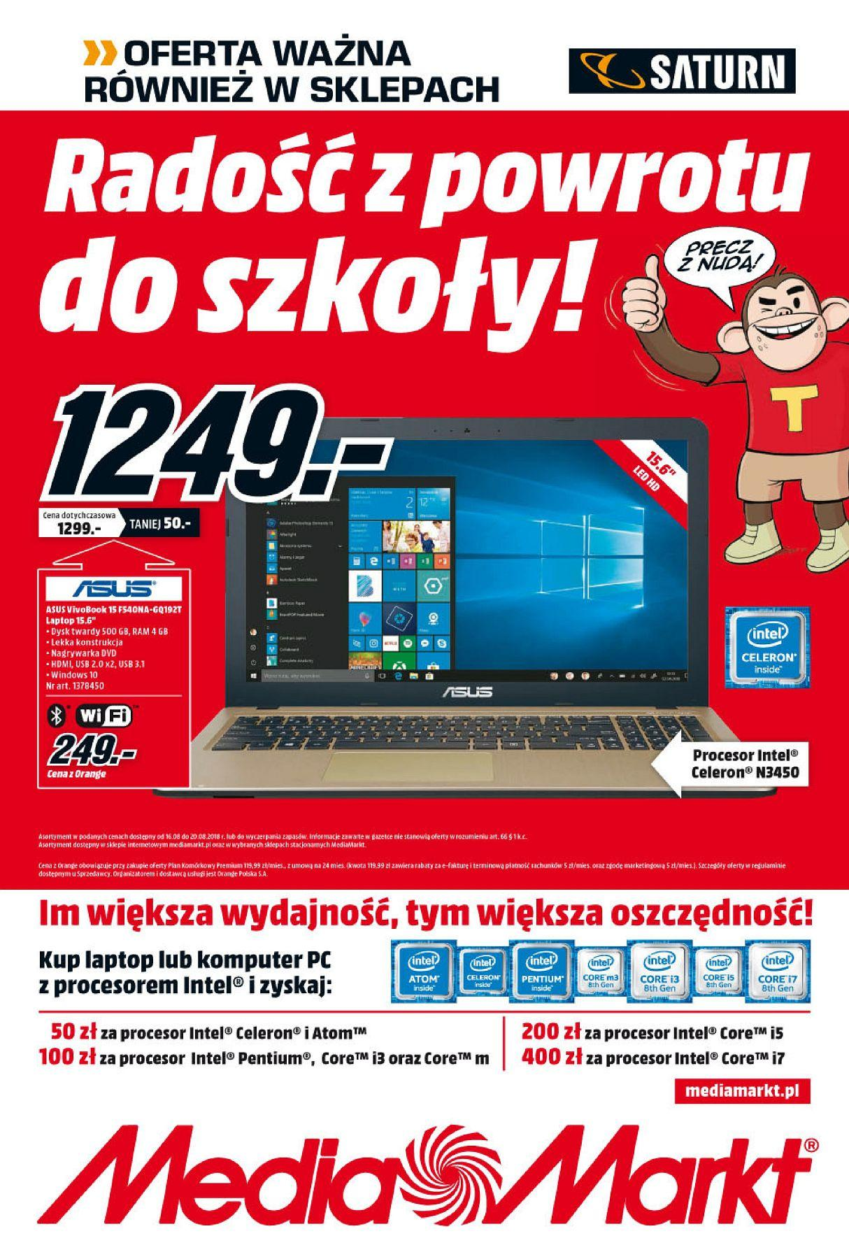 Gazetka promocyjna Media Markt do 20/08/2018 str.0