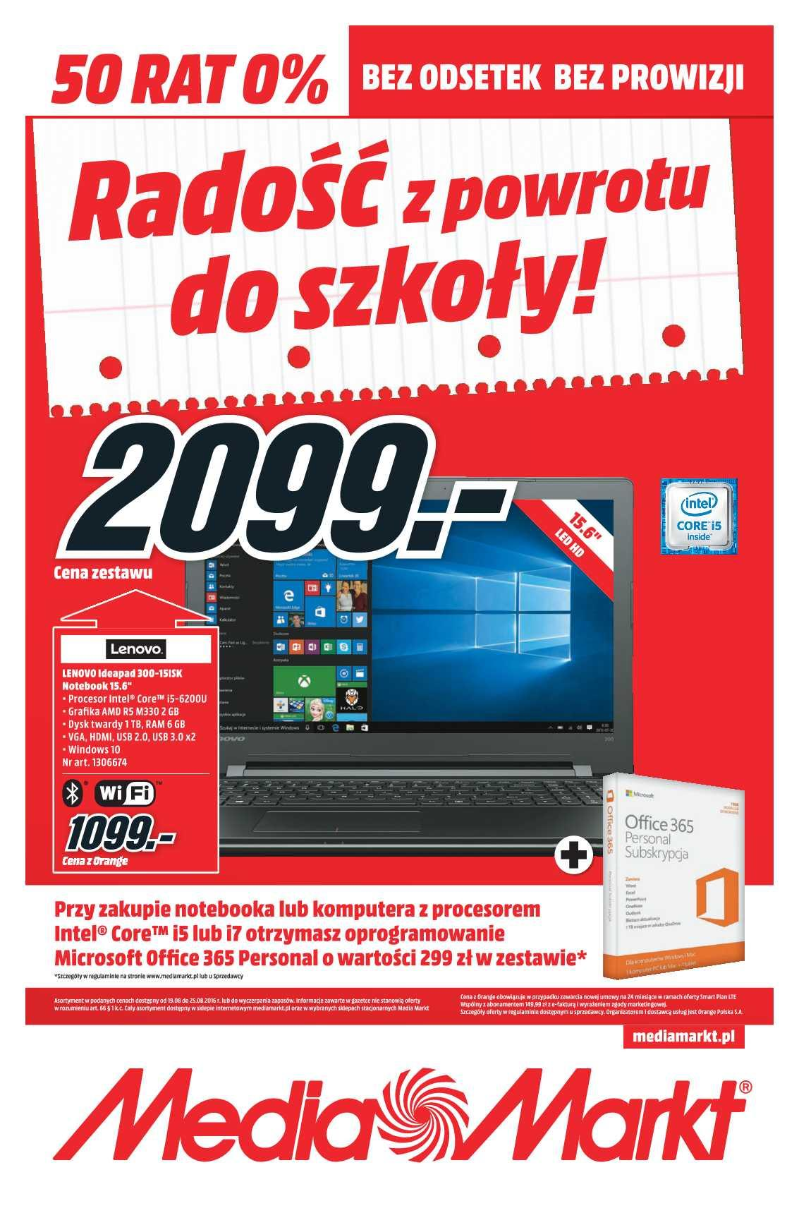 Gazetka promocyjna Media Markt do 25/08/2016 str.0