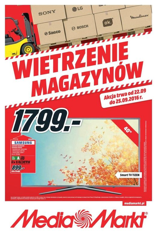 Gazetka promocyjna Media Markt do 25/09/2016 str.0