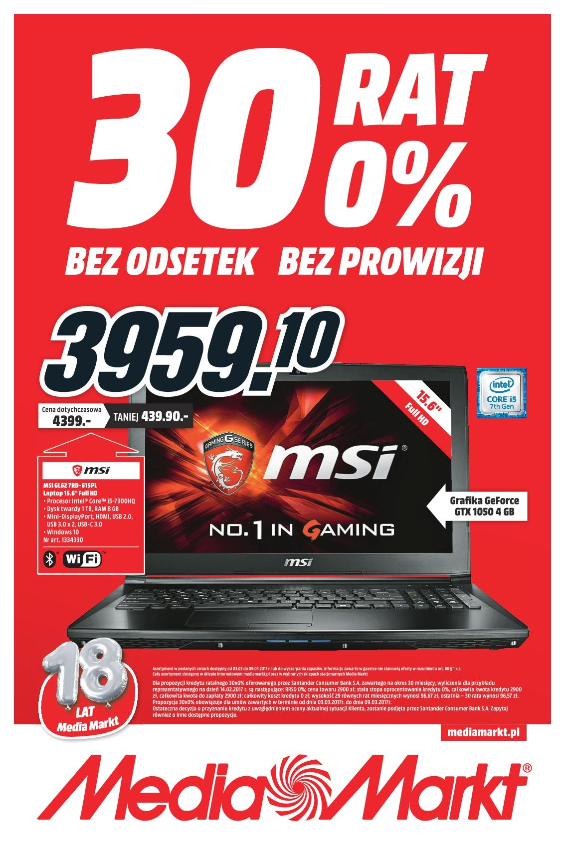 Gazetka promocyjna Media Markt do 09/03/2017 str.0