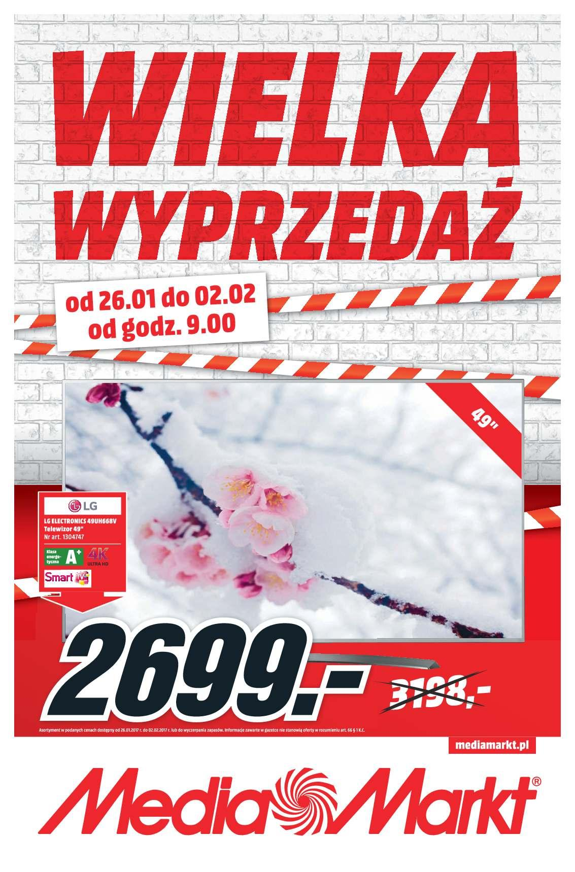 Gazetka promocyjna Media Markt do 02/02/2017 str.1