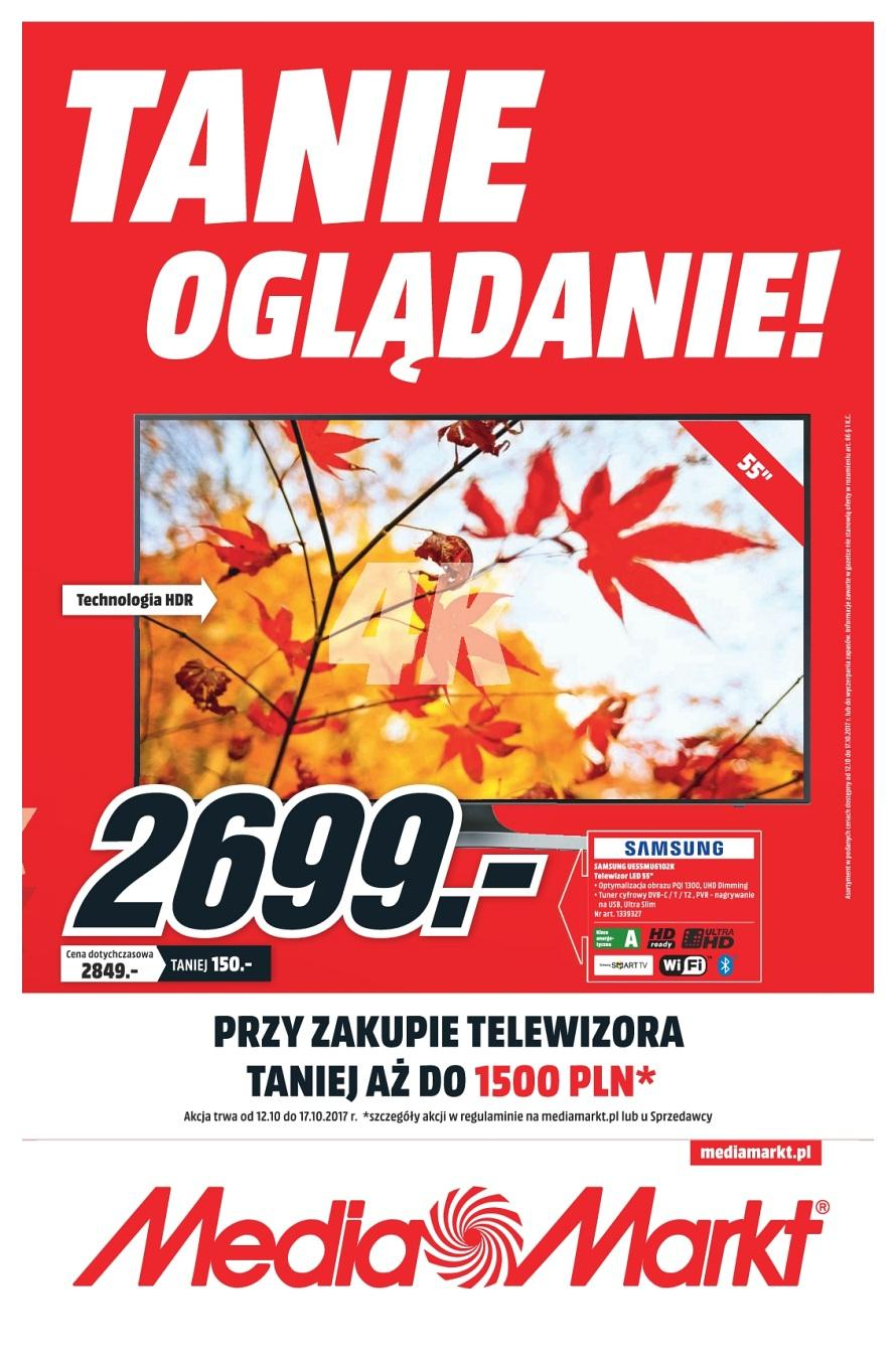 Gazetka promocyjna Media Markt do 18/10/2017 str.0