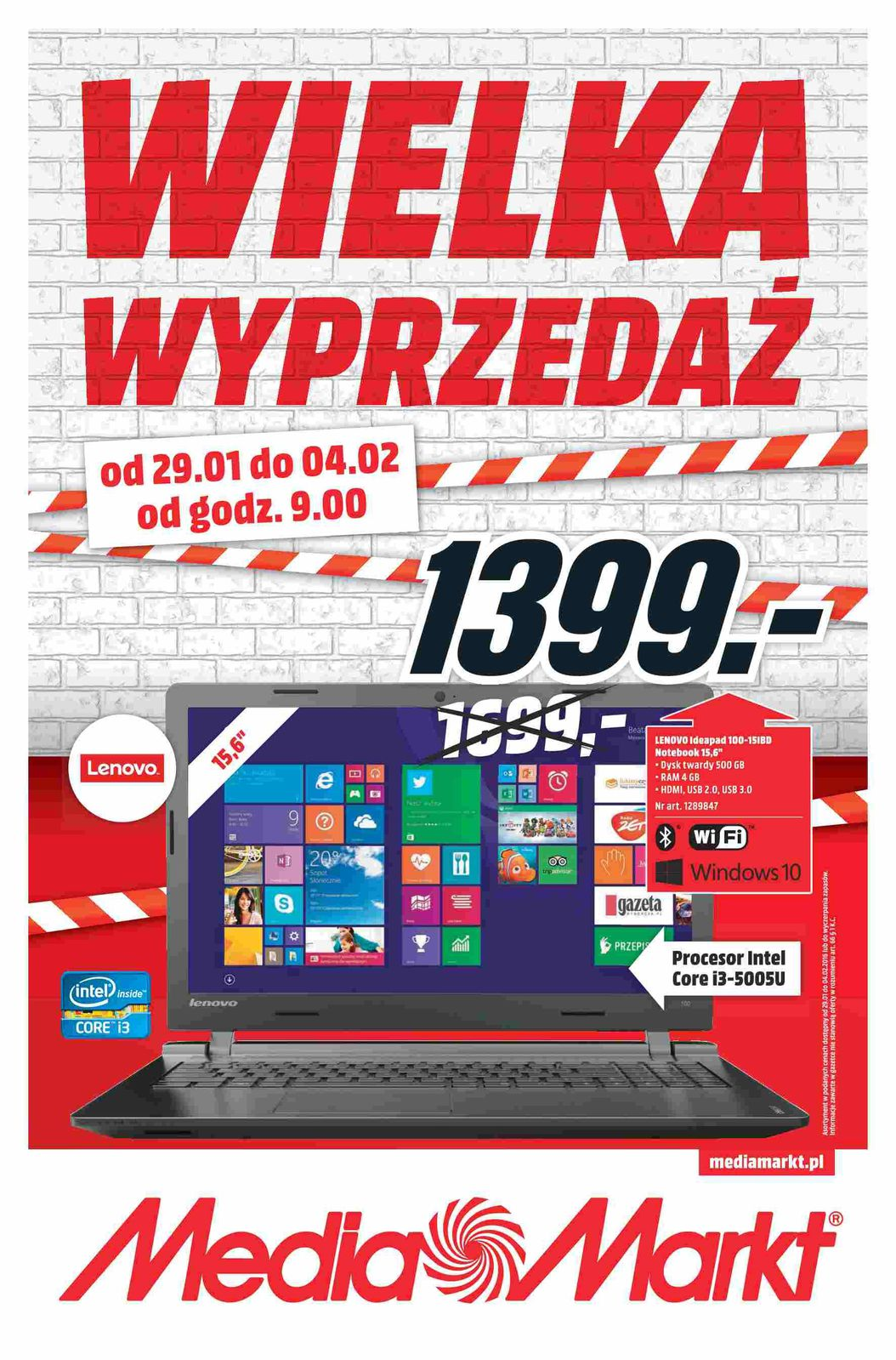 Gazetka promocyjna Media Markt do 04/02/2016 str.0