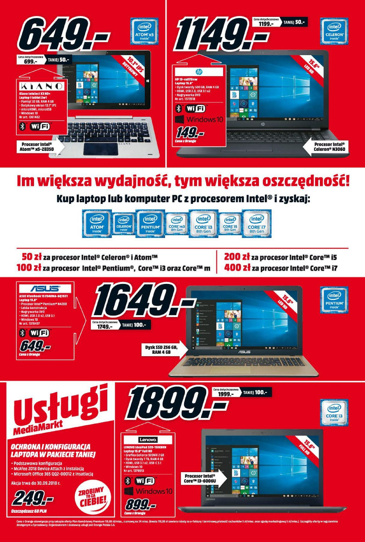 Gazetka promocyjna Media Markt do 20/08/2018 str.1