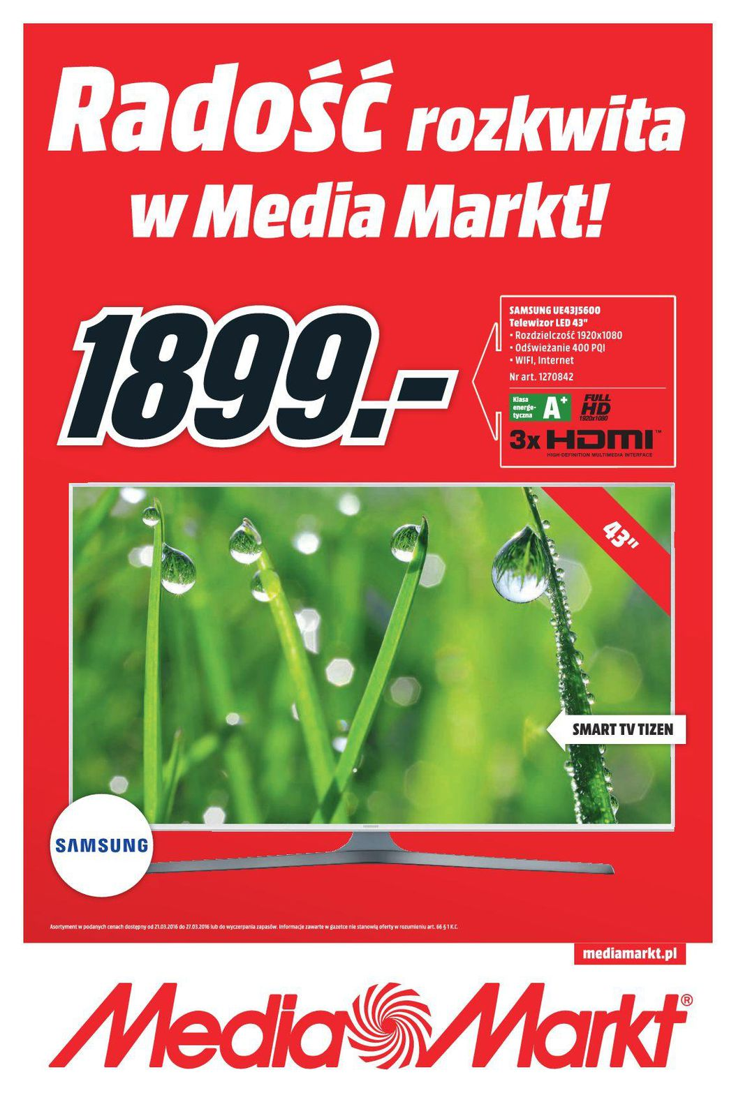 Gazetka promocyjna Media Markt do 27/03/2016 str.1
