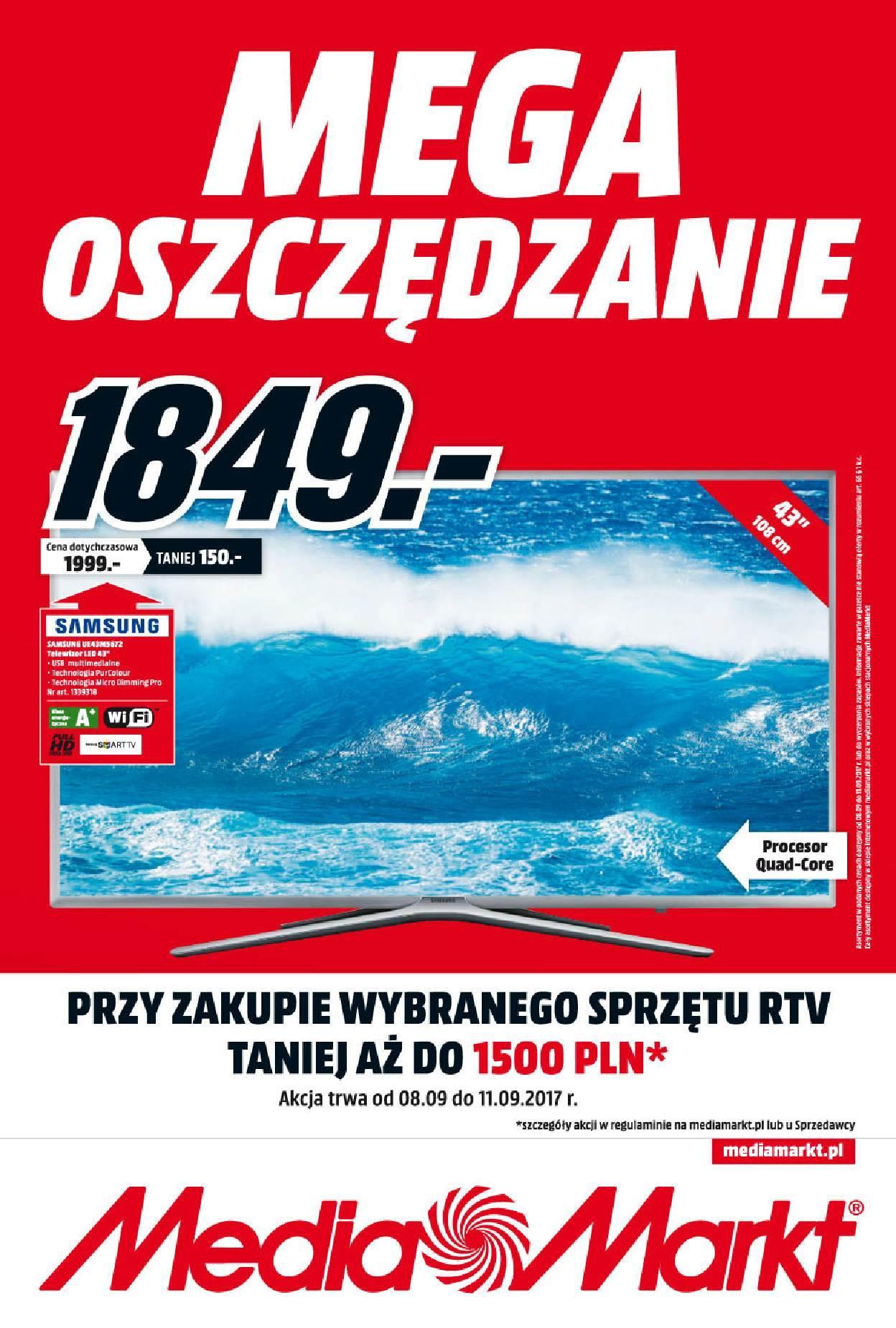 Gazetka promocyjna Media Markt do 14/09/2017 str.0