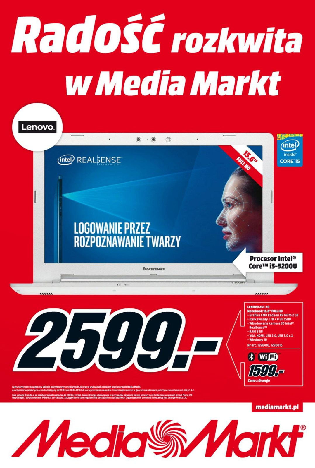 Gazetka promocyjna Media Markt do 03/04/2016 str.0
