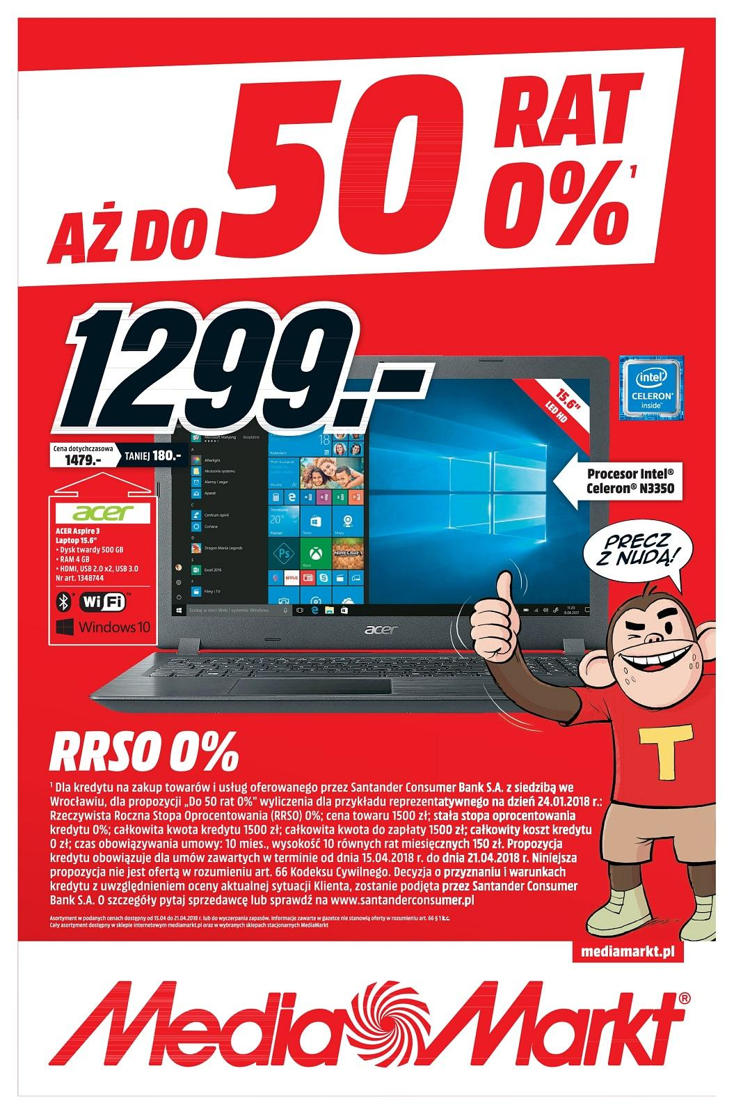 Gazetka promocyjna Media Markt do 21/04/2018 str.1