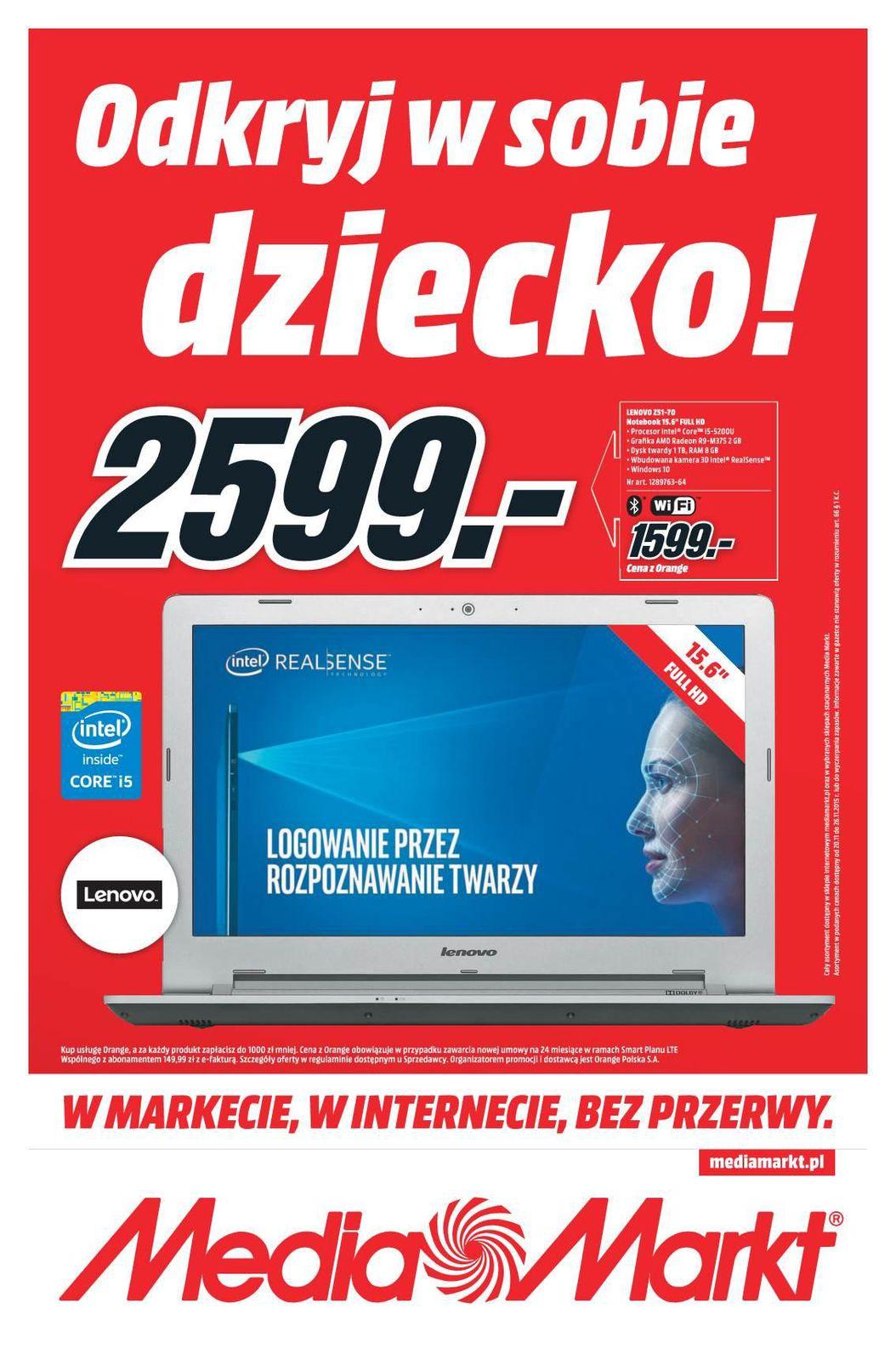 Gazetka promocyjna Media Markt do 26/11/2015 str.0