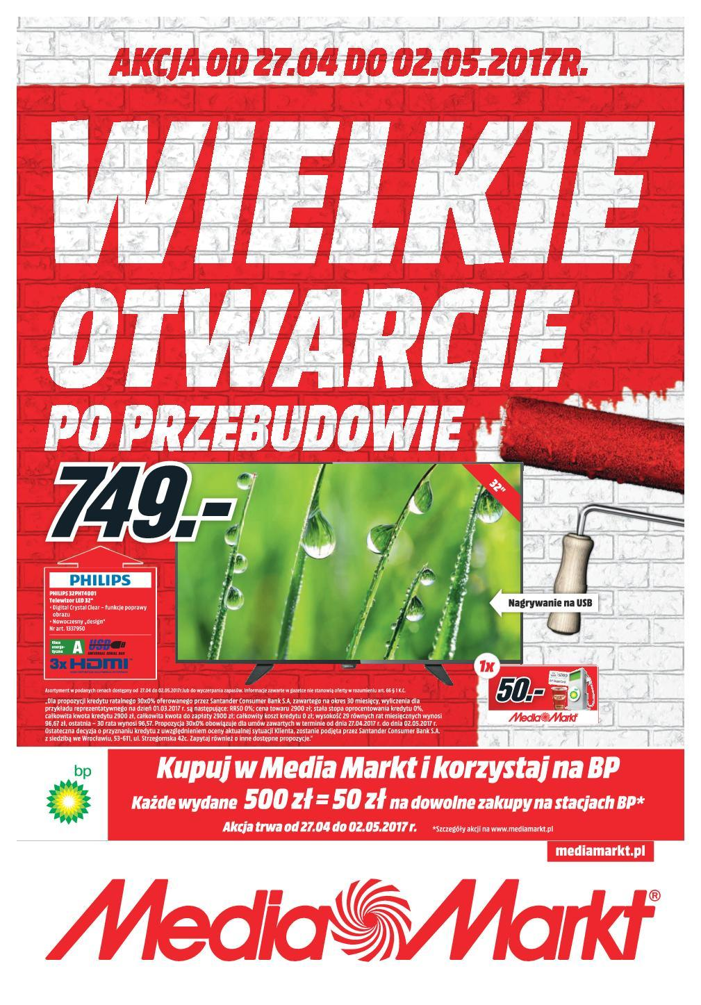 Gazetka promocyjna Media Markt do 02/05/2017 str.0