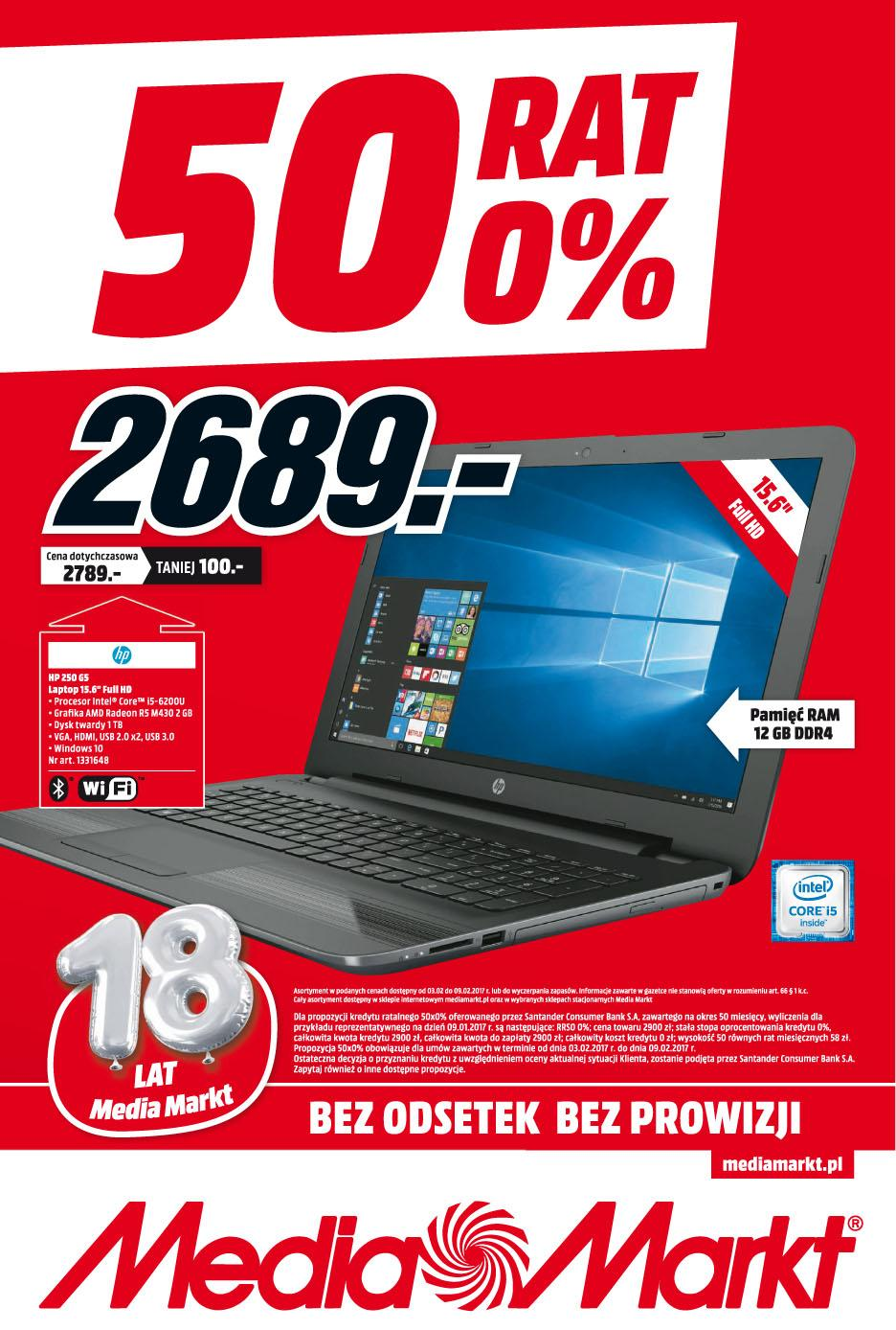 Gazetka promocyjna Media Markt do 09/02/2017 str.0