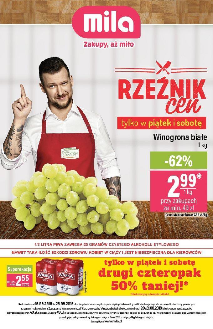 Gazetka promocyjna Mila do 25/09/2019 str.1