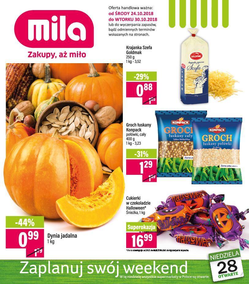 Gazetka promocyjna Mila do 30/10/2018 str.0