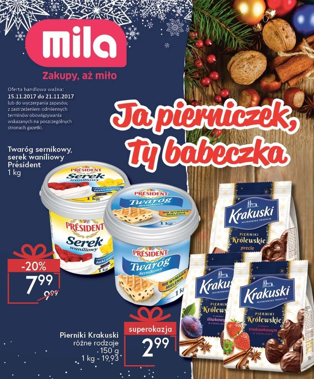 Gazetka promocyjna Mila do 21/11/2017 str.1