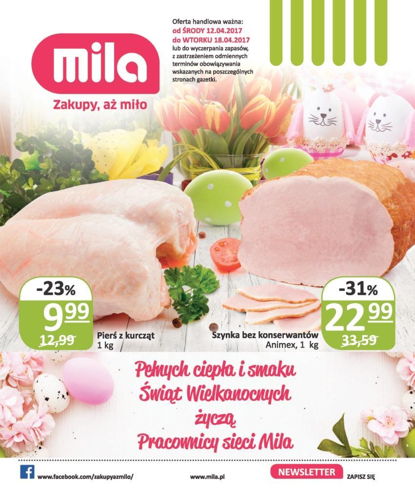 Gazetka promocyjna Mila do 18/04/2017 str.0