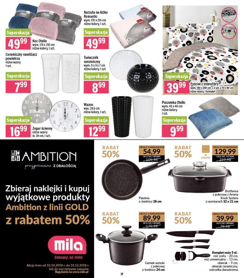 Gazetka promocyjna Mila do 06/11/2018 str.19