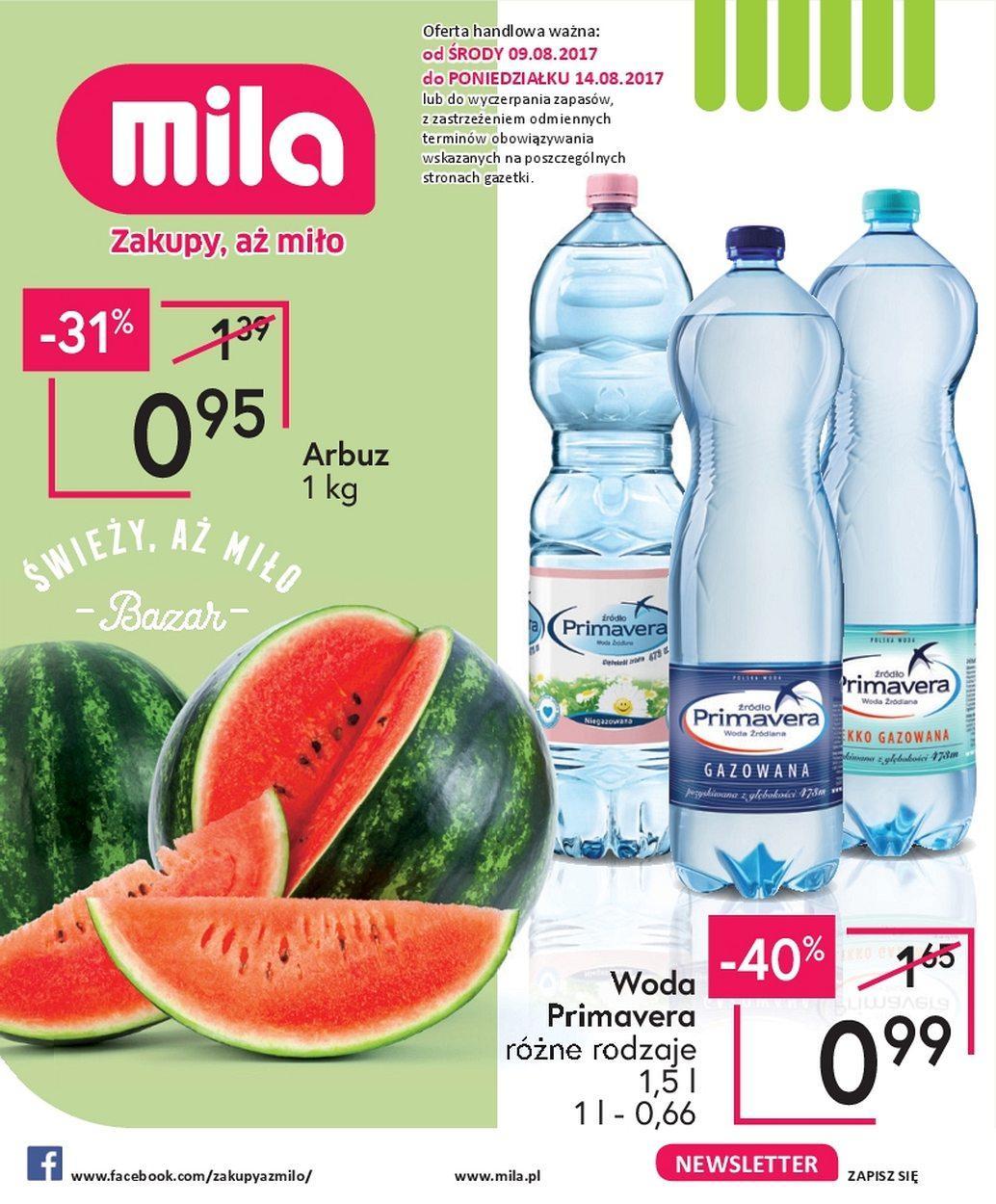 Gazetka promocyjna Mila do 14/08/2017 str.0