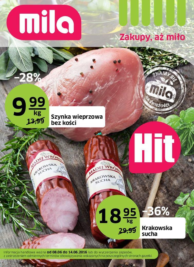 Gazetka promocyjna Mila do 14/06/2016 str.0
