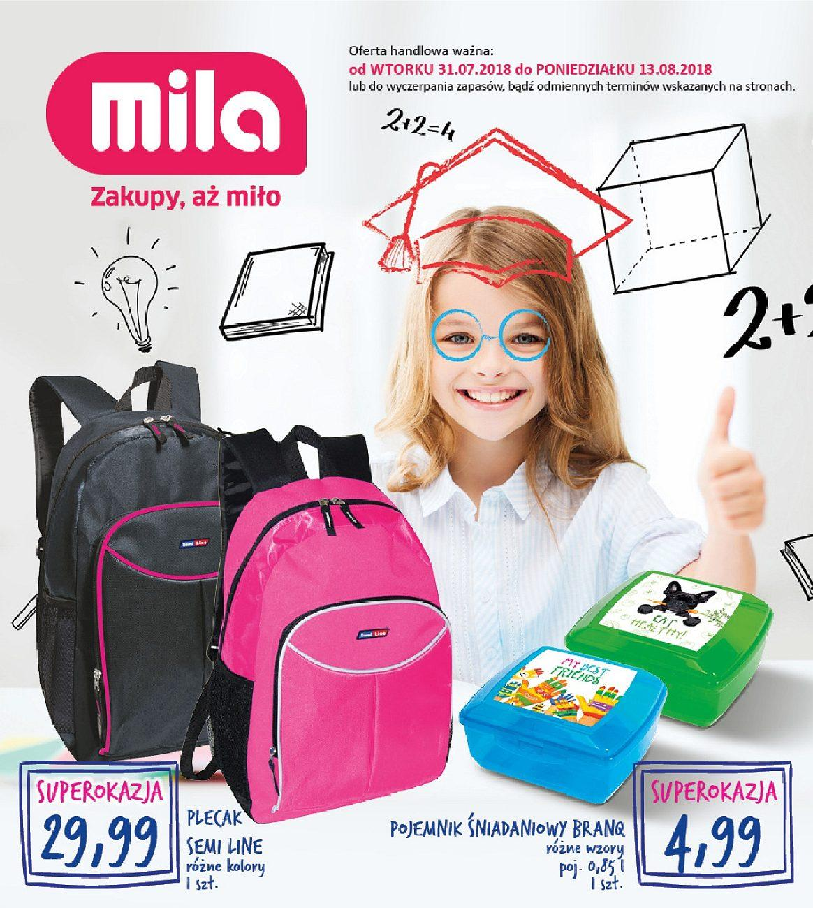 Gazetka promocyjna Mila do 13/08/2018 str.0