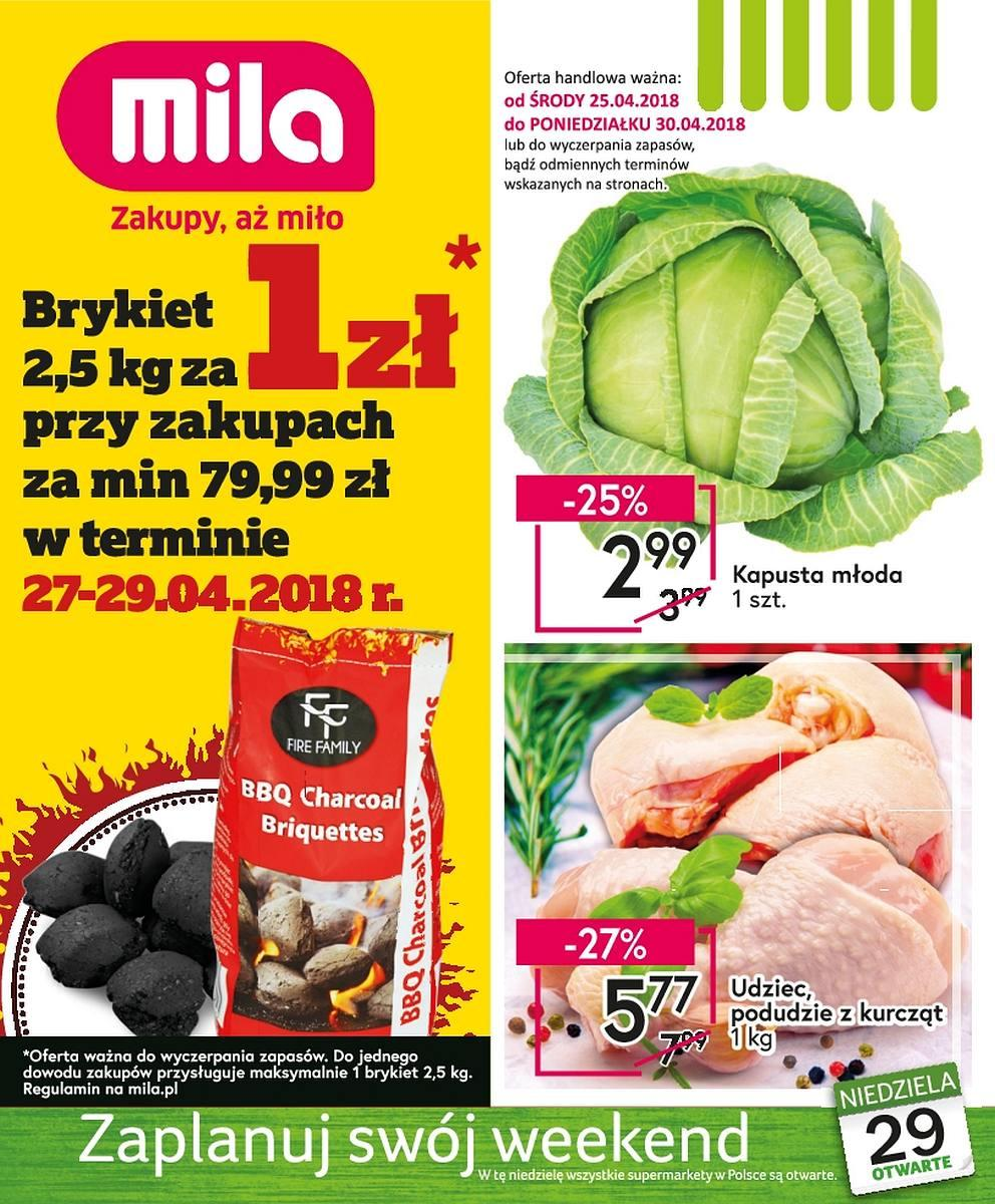 Gazetka promocyjna Mila do 30/04/2018 str.0