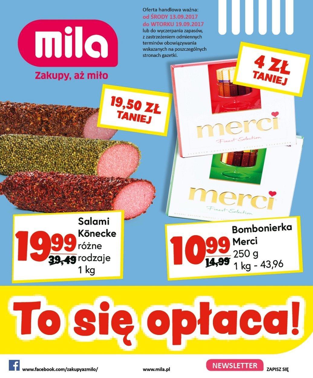 Gazetka promocyjna Mila do 19/09/2017 str.0